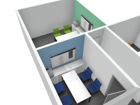 Immigration Service Hydra Suite Syndicate Rooms 1 and 3 - 3D Models