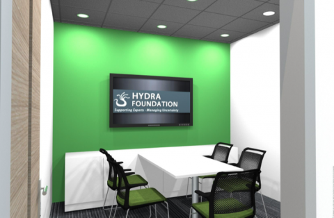 University of Lancashire - Hydra Suite 3D Layout Plan Syndicate Room