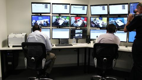 Victoria Police Hydra Control Room in Operation